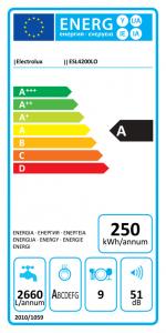 Electrolux ESL 4200 štítok