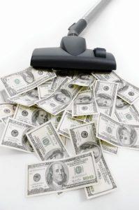 Vysávač a peniaze