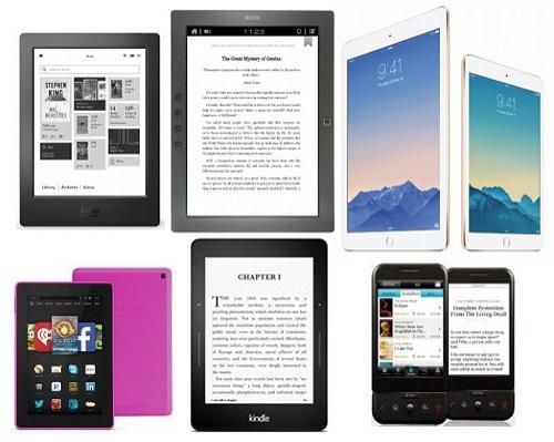 Rôzne-zariadenia-na-čítanie-e-kníh