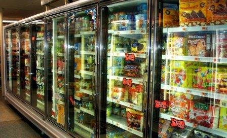 Mrazáky v supermarketu