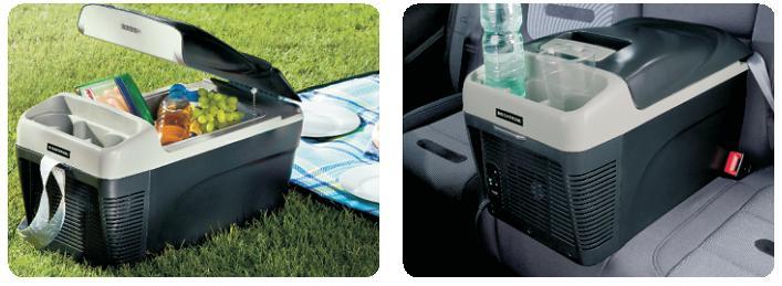 Autochladnička při použití