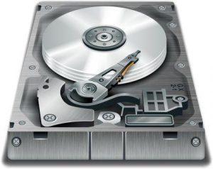 Externí disk v průřezu