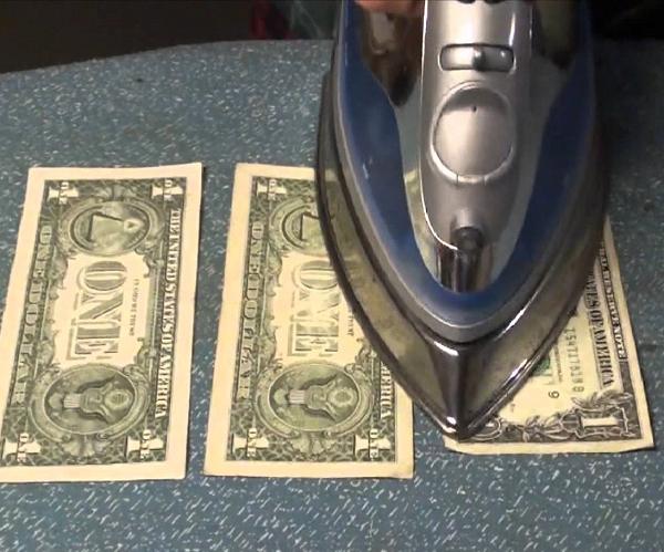 žehličky - peniaze