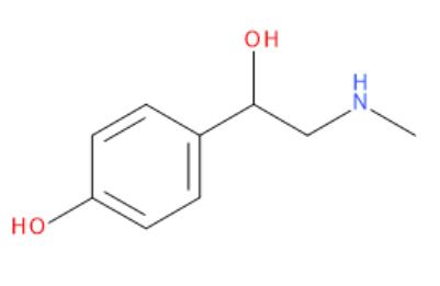 Vzorec synefrinu